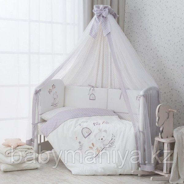 """Комплект постельного белья в кроватку """"PIO PIO"""" 7 предметов"""