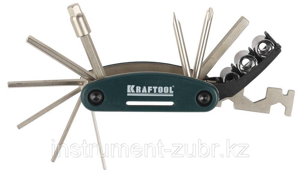 """Набор """"EXPERT"""" для обслуживания велосипеда, KRAFTOOL 26182-H16, 16-в-1"""