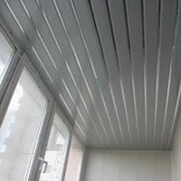 Реечный потолок металлик