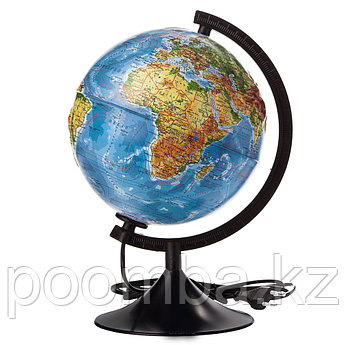 """Рельефный глобус """"Классик Евро"""" - Физико-политический, с подсветкой"""
