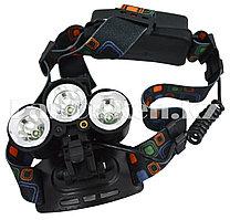 Светодиодный налобный фонарь шахтерский F114 с лазерным указателем 3LED 3 режима