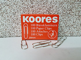 Скрепки Koores 28 мм, 100 шт