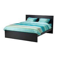 Кровать каркас МАЛЬМ черно-коричневый 160х200 Лурой ИКЕА, IKEA , фото 1