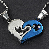 """Двойные кулоны """"Синее сердце"""", фото 1"""