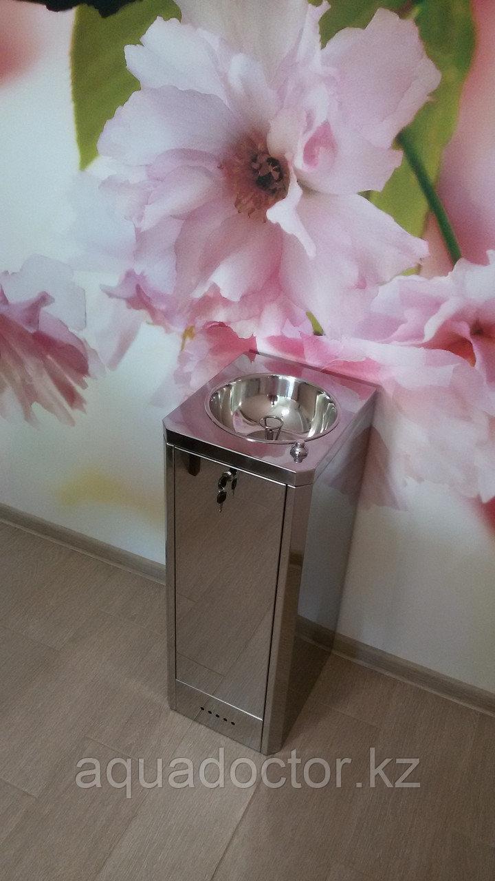 Питьевой фонтанчик ФП-Школьный (шестигранный) с ограничительным кольцом (нержавеющая сталь)