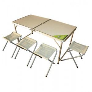 Комплект: раскладной стол и 4 табурета