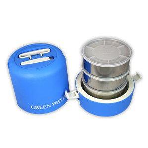 Термос пищевой с тремя контейнерами GREEN WAY