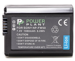 Aккумулятор PowerPlant Sony NP-FW50 1080mAh