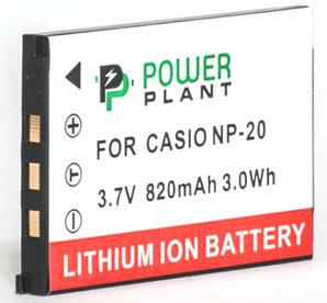 Аккумулятор PowerPlant Casio NP-20 820mAh
