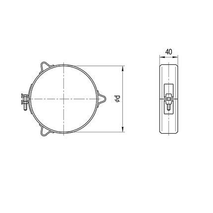 Хомут обжимной Ferrum Ф 197-200 мм под растяжку, фото 2