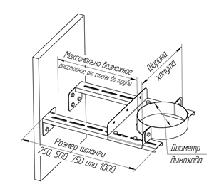 Штанга для стенового хомута Ferrum L - 250, фото 2