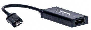 Кабель-переходник PowerPlant  micro  USB - HDMI, 0.15m, (MHL), Blister