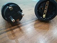Соединитель штепсельный Вилка 16А 220В с заземлением+ розетка с заземлением.
