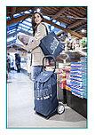 Брендовая сумка-тележка ITALO синяя в полоску + Shopper от Gimi (Италия)., фото 2