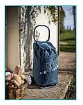 Брендовая сумка-тележка ITALO синяя в полоску + Shopper от Gimi (Италия)., фото 3