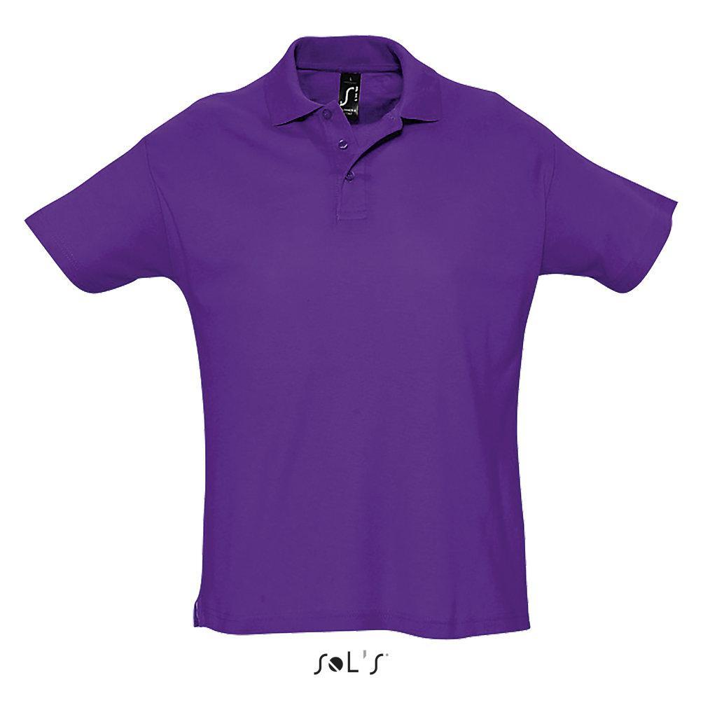 Футболка Поло Sols Summer ll XL, фиолетовая
