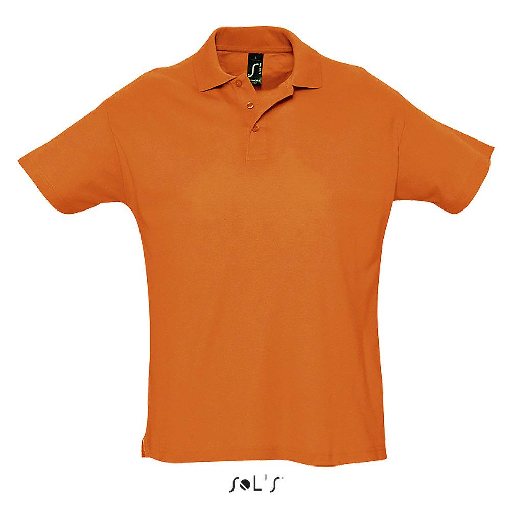 Футболка Поло Sols Summer ll M, оранжевая