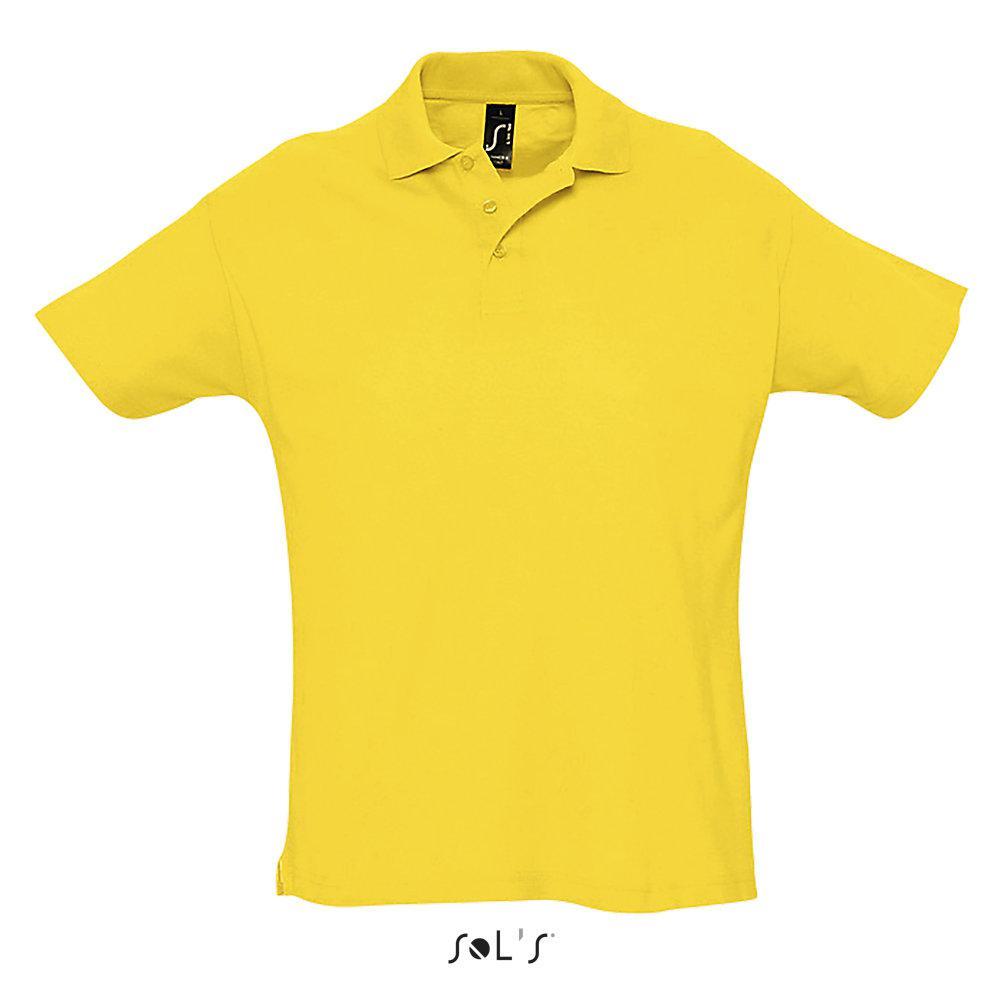 Футболка Поло Sols Summer ll XL, желтая