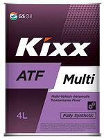 Трансмиссионное масло KIXX ATF MULTI 4 литра