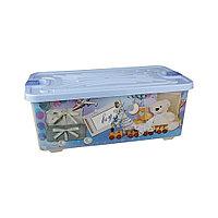 """Контейнер для игрушек """"Boy"""" 75 л пластиковый (голубой), М2341"""