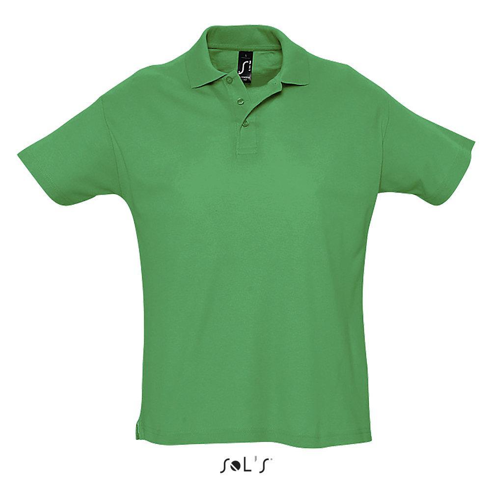 Футболка Поло Sols Summer ll M, зеленая