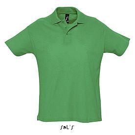 Футболка Поло Sols Summer ll XXL, зеленая