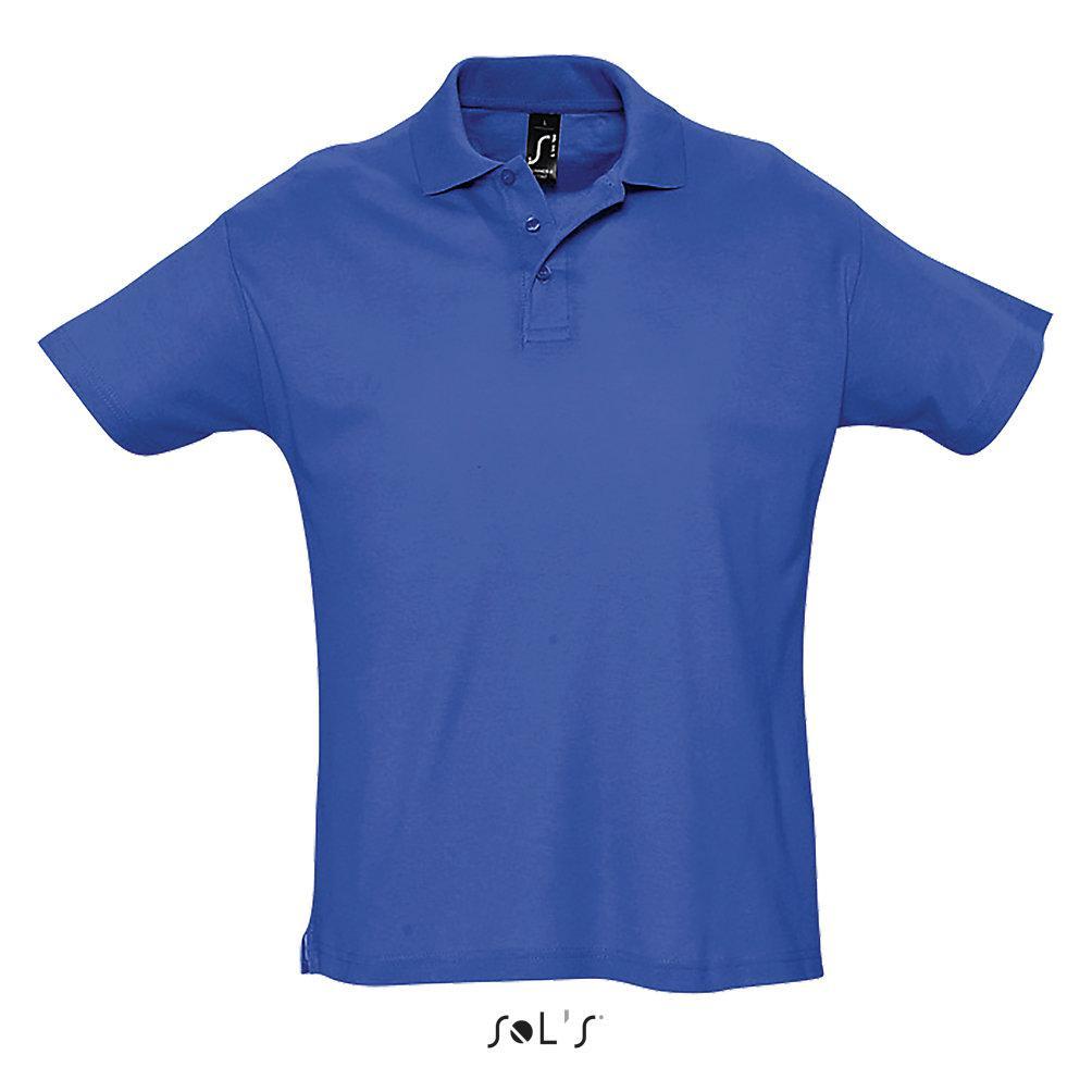 Футболка Поло Sols Summer ll L, синяя