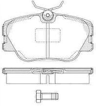 Тормозные колодки YOTO G-001(MD 8052)(REMSA 189.00)