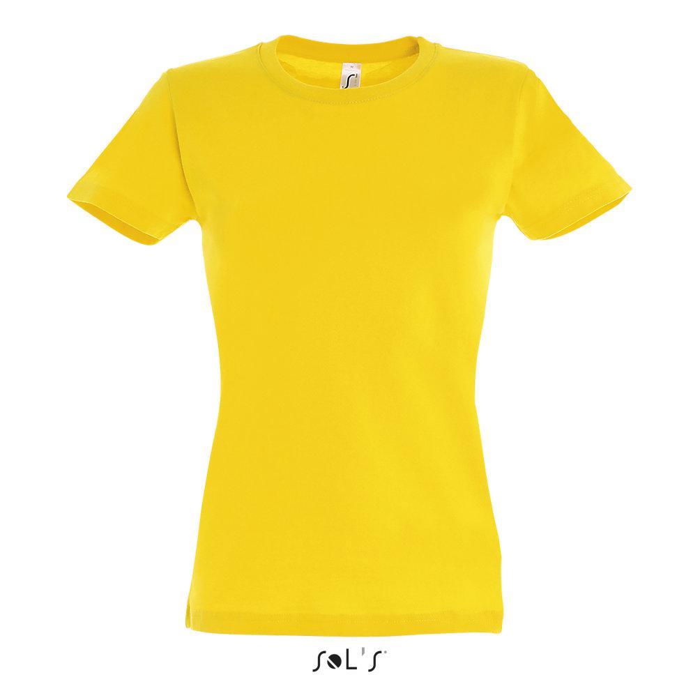 Футболка женская Sols Imperial M, желтая