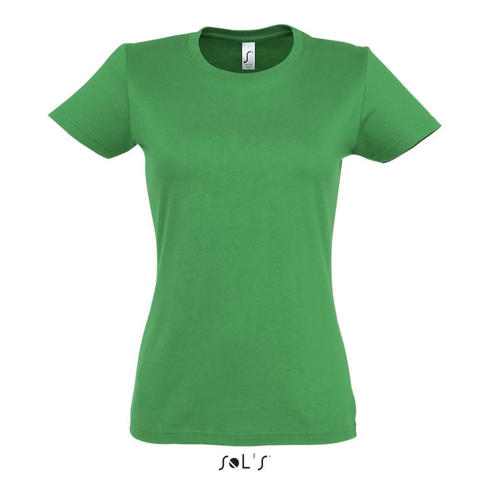 Футболка женская Sols Imperial S, зеленая