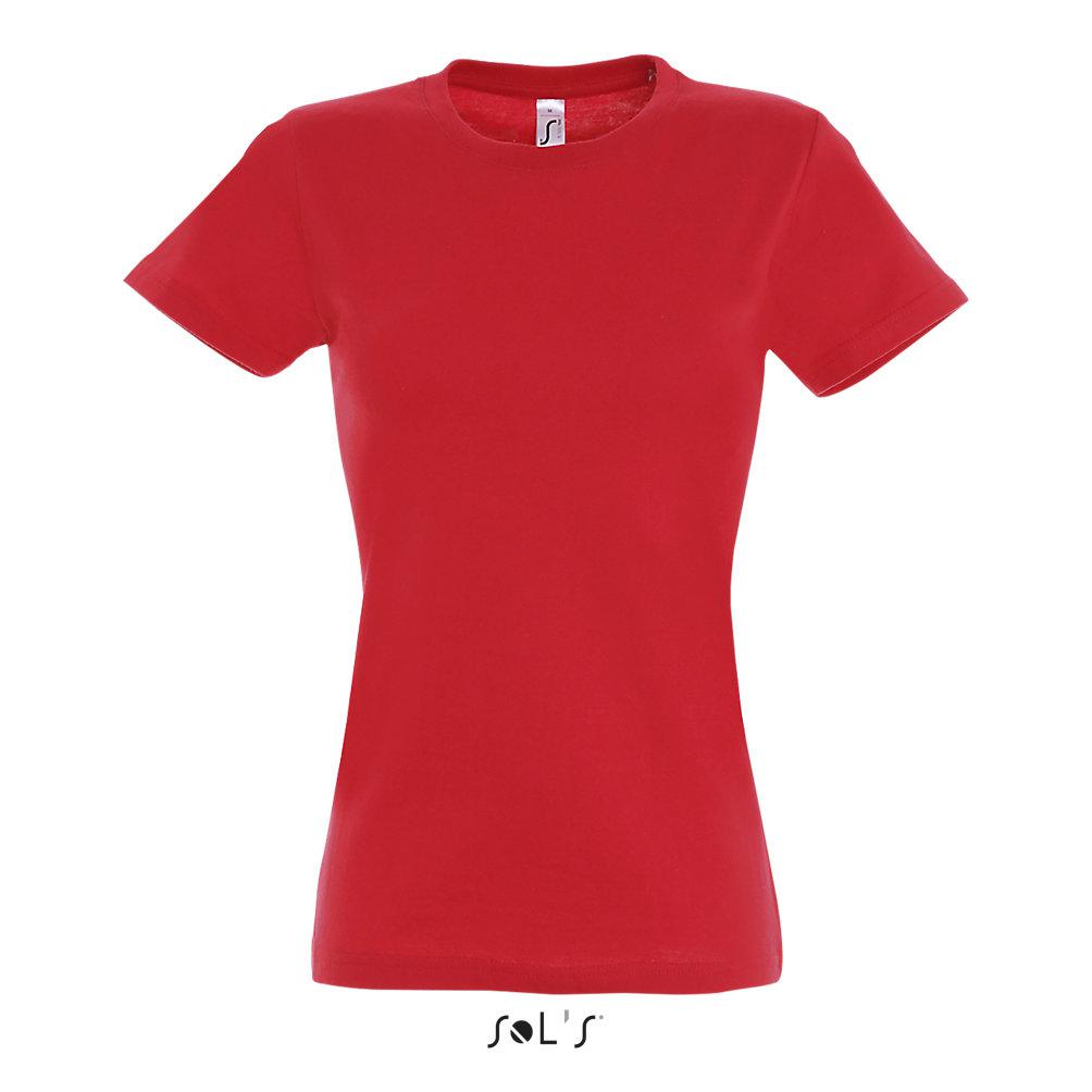 Футболка женская Sols Imperial L, красная