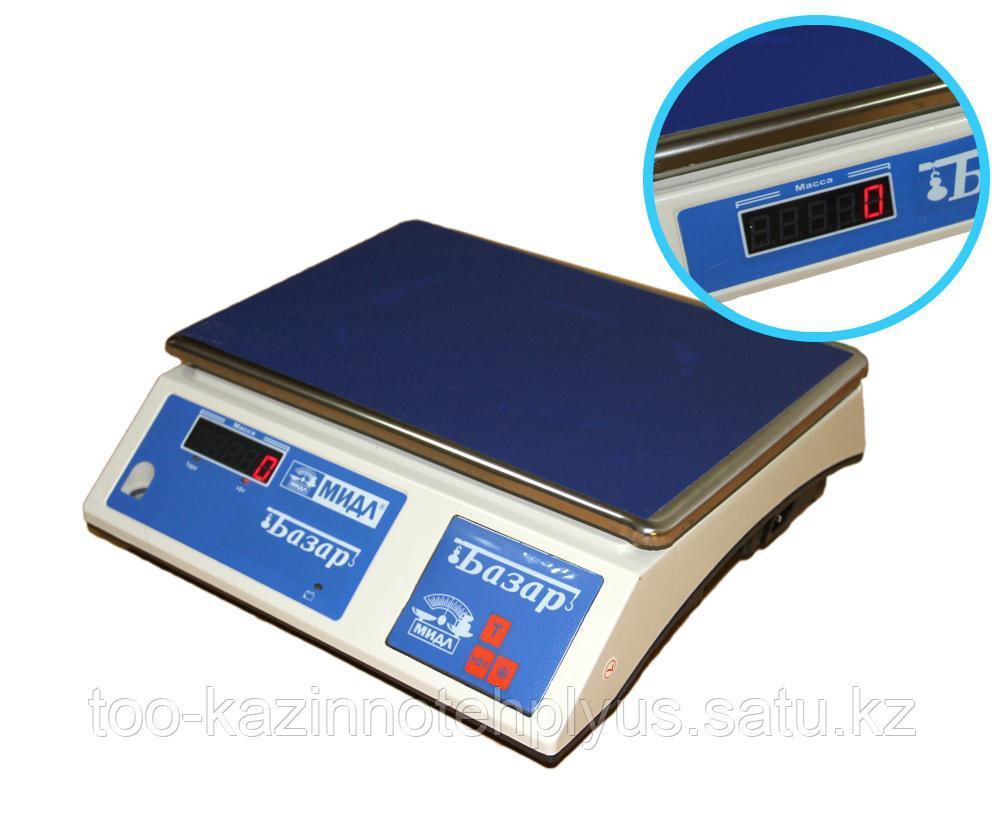 Фасовочные весы МТ    6 ВДА (1/2; 340х230)  БАЗАР  ( светодиод )