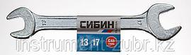 Рожковый гаечный ключ 13 x 17 мм, СИБИН