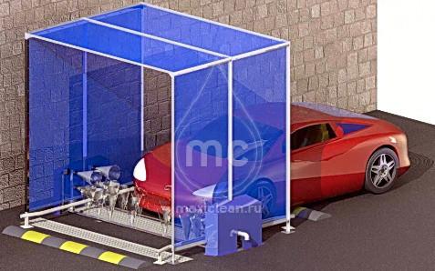 Автоматическая мойка колес и днища легкового автотранспорта. АМКД-1