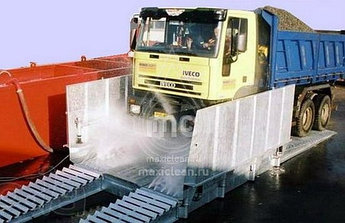 Автоматическая мойка колес и днища грузового автотранспорта. АМКД-5