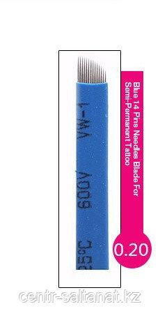 Иглы-лезвие (14) для нанесение микроблейдинга, перманентного макияжа (татуажа) бровей
