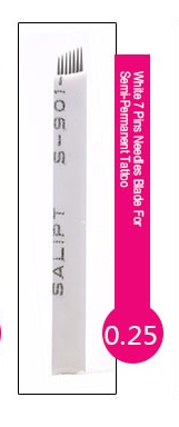 Иглы лезвие (7) для нанесение микроблейдинга, перманентного макияжа (татуажа) бровей