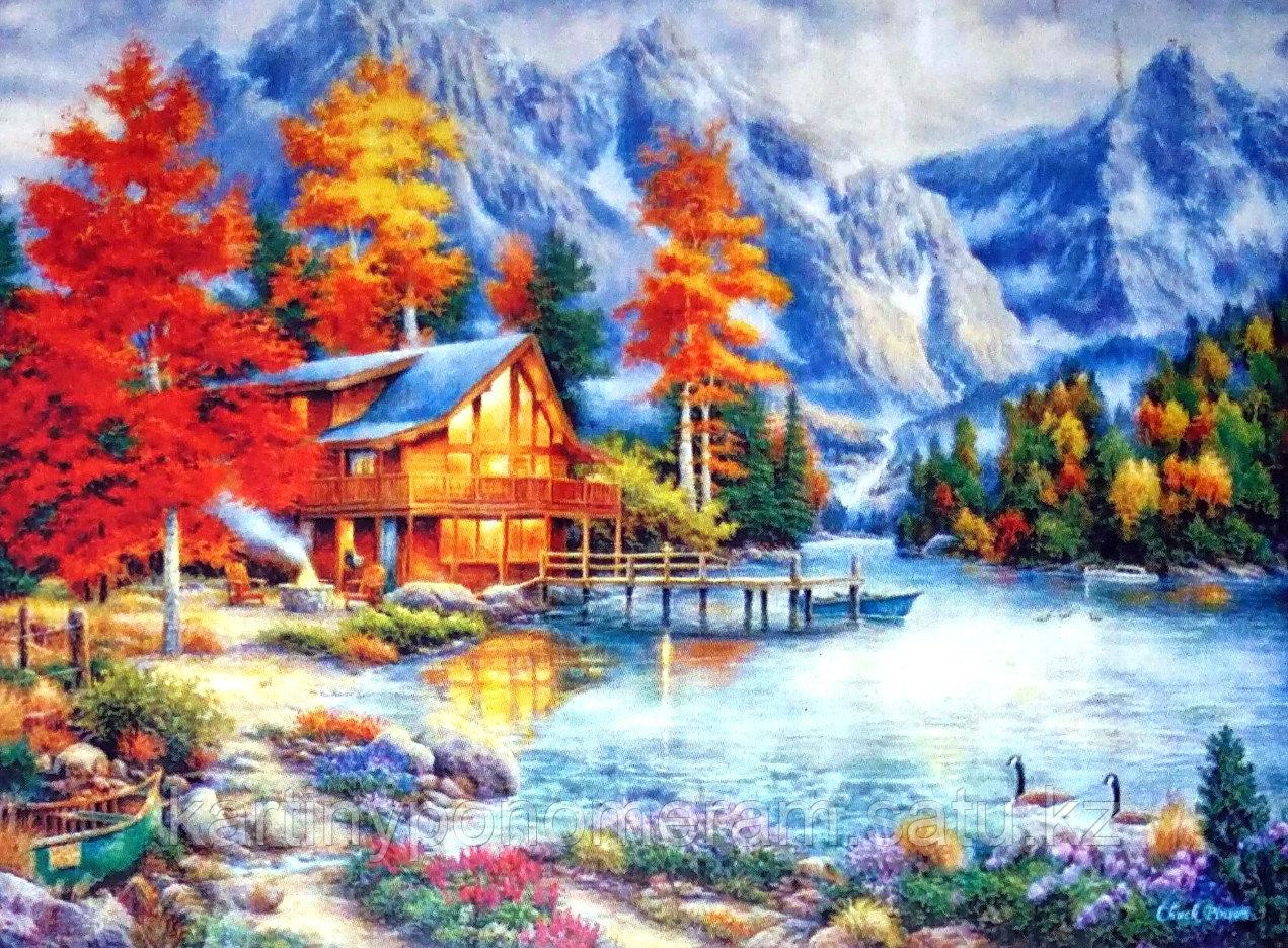 """Картины по номерам """"Осенний вечер в горах 30х40"""""""