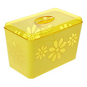 "Хлебница ""Соблазн"" 34х27х18 см пластиковый (желтый), М2318"