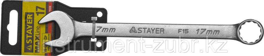 Комбинированный гаечный ключ 17 мм, STAYER, фото 2