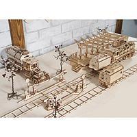3D-конструктор Локомотив с тендером, переездом и перроном, фото 1