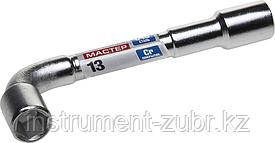"""Ключ торцовый ЗУБР """"МАСТЕР"""" двухсторонний L-образный, проходной, 13мм"""