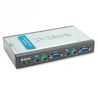 D-Link DKVM-4K 4-х портовый переключатель KVM с портами PS/2 и VGA, предназначенный для управления 4