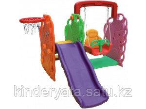 QiaoQiao QQ512 Дерево - игровой комплекс (горка, качели, баскетбольное кольцо)