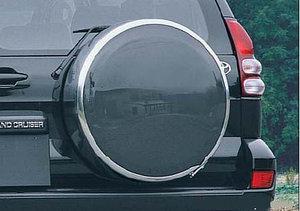 Бокс (чехол) запасного колеса из нержавеющей стали на Toyota LAND CRUISER PRADO 120