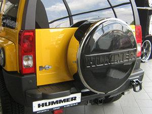 Бокс (чехол) запасного колеса из нержавеющей стали на HUMMER H3