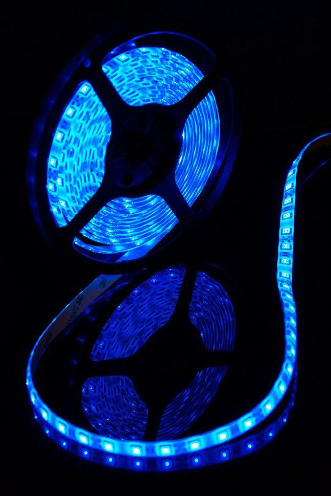 Светодиодная лента SMD 5050 IP65 12V 60д/м, синий, герметичная