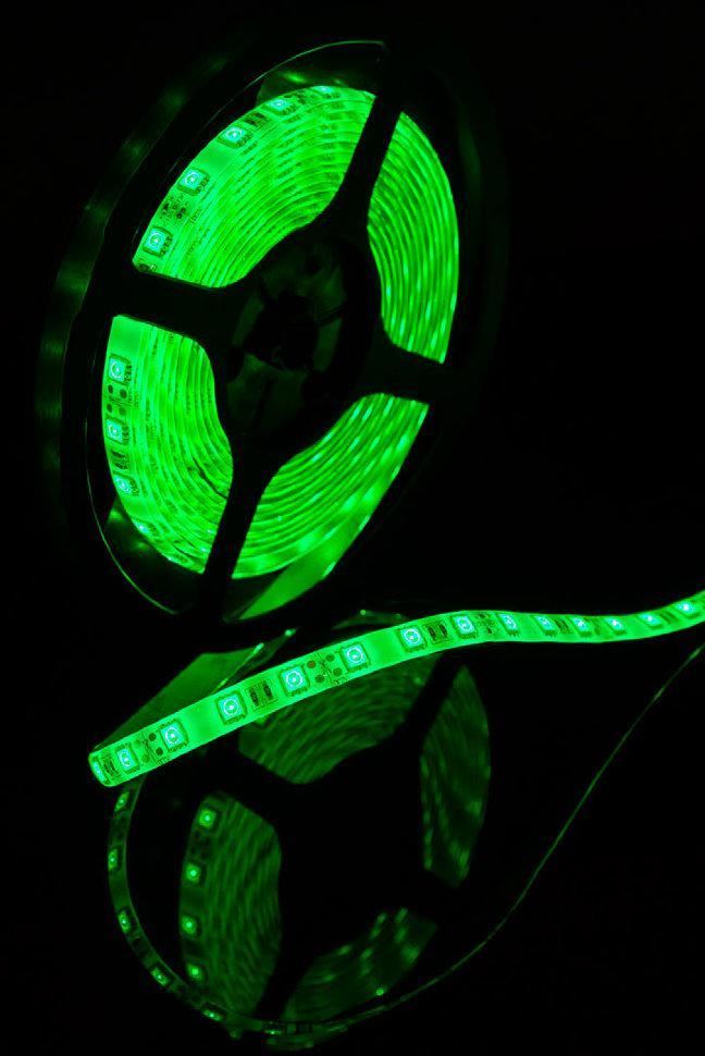 Светодиодная лента SMD 5050 IP65 12V 60д/м, зеленый, герметичная