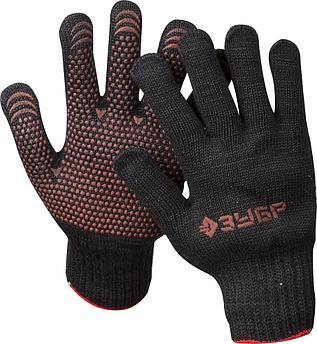 """(11462-XL) Перчатки ЗУБР """"МAСTEP"""" трикотажные, 7 класс, с защитой от скольжения, утепленные, полушер"""