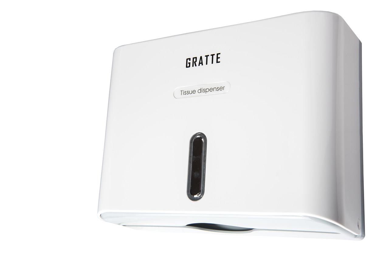Диспенсер для бумажных полотенец GRATTE PD-570 (W)